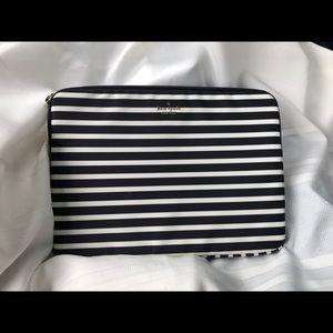 "Kate spade New York striped computer sleeve 13"""